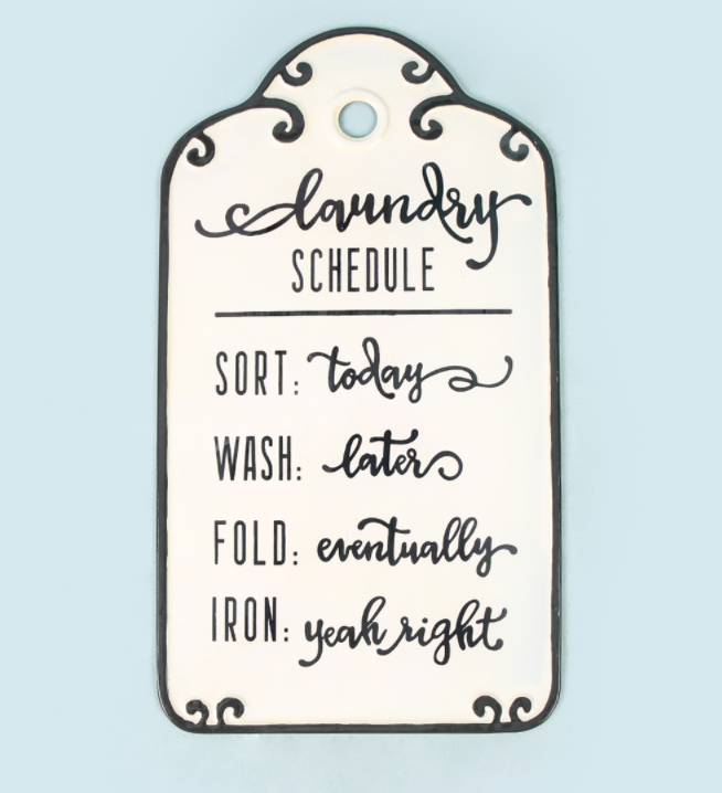 christmas-gift-ideas-for-male-friends-laundry-schedule-wall-decor